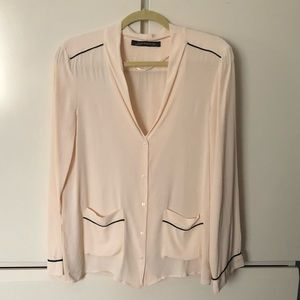 NWOT BOGO Free Zara Button Down Blouse